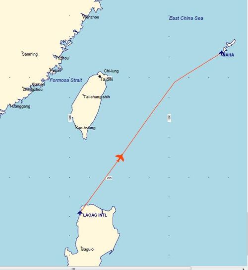 Plan de vol LAOAG - NAHA Vendredi 29 Mai 2015