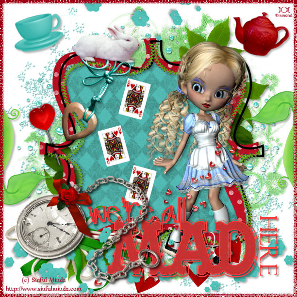 "Défi Wordart + kit ""Alice in wonderland"" chez Delire2scrap"