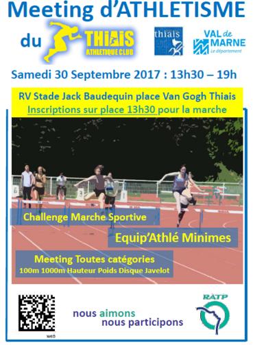 ASFI Villejuif: Meeting d'athlétisme de Thiais