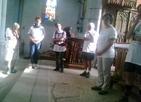 prière dans l'une des églises rencontrées