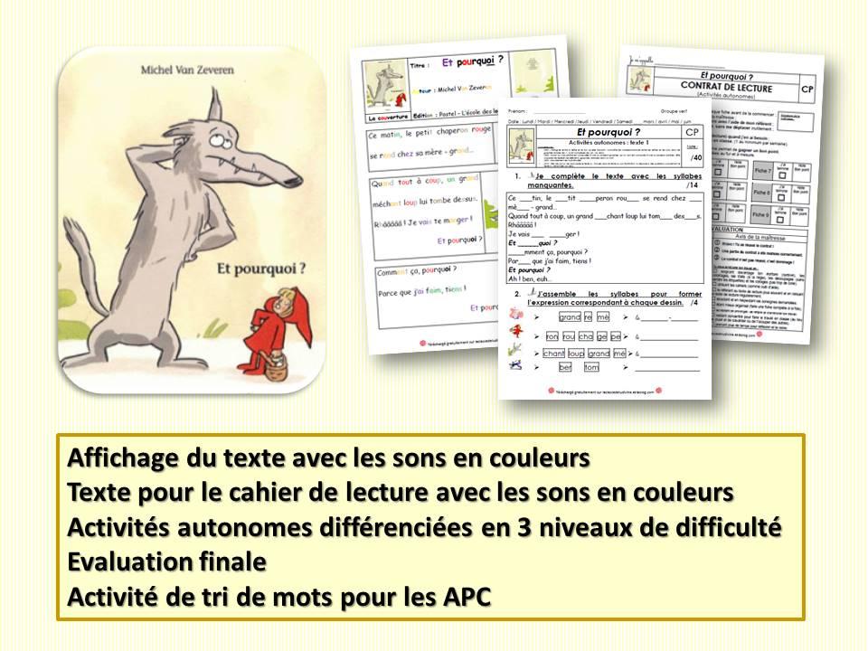 Album Cp Et Pourquoi De Michel Van Zeveren La Classe
