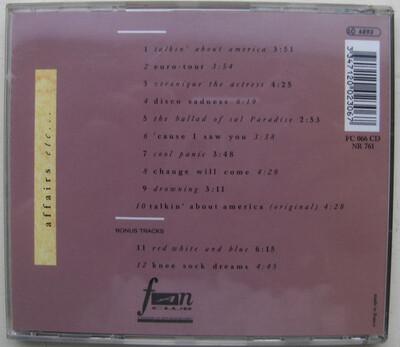 6 Jours avec ...Elliott Murphy -  Partie 1 - Période 1973/1990 : Affairs etc....