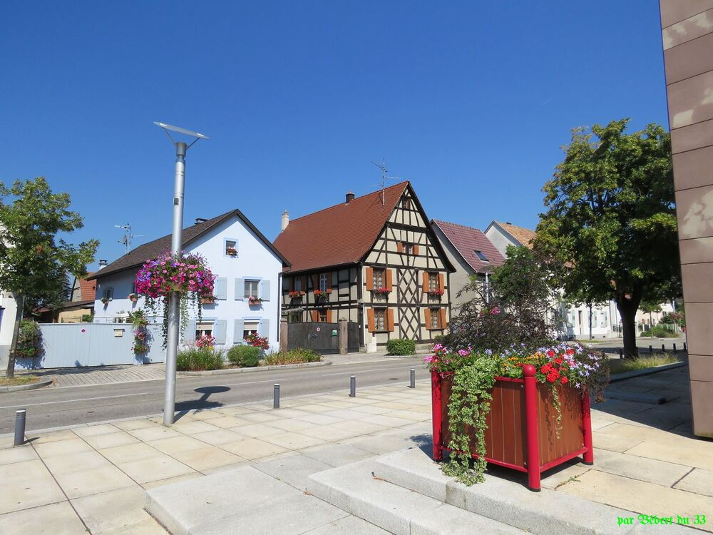 Ottmarsheim dans le Haut Rhin
