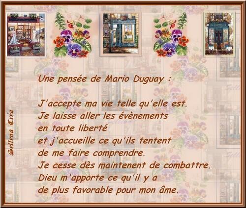 Pensées de Mario Duguay