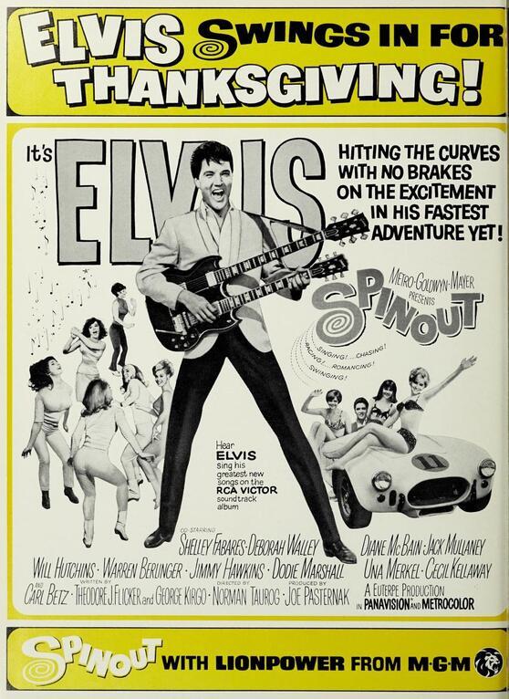 SPINOUT BOX OFFICE USA 1966