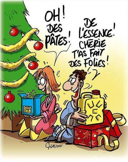 Humour avec la surprise des cadeaux.