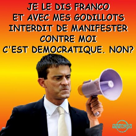 Interdiction de manifester