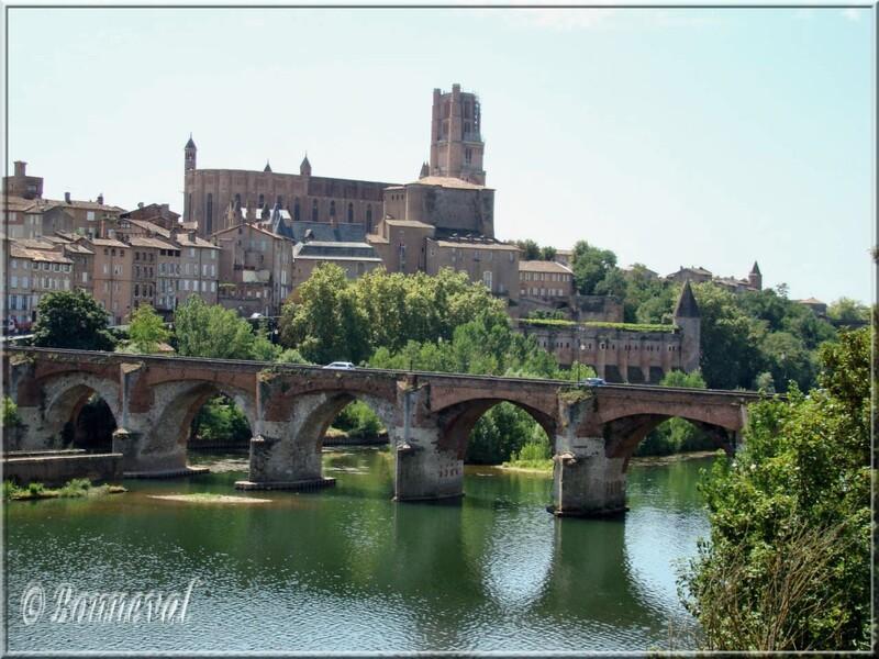 Albi le Pont-vieux, la Cathédrale Sainte-Cécile et le Palais de la Berbie