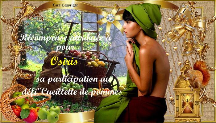 """Récompenses pour le défi""""La cueillette des pommes"""""""