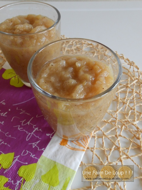 Compote épicée à la pomme poire et nashi