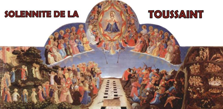 1er novembre : fête de la Toussaint