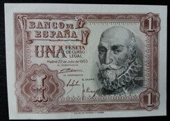 billets de banque espagne santa cruz 1953
