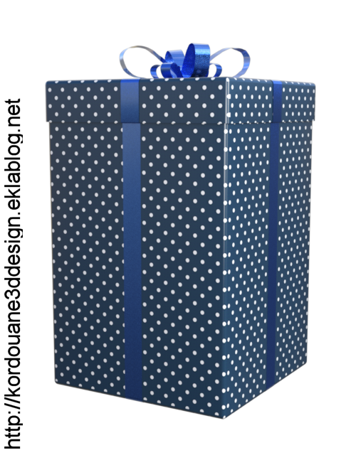 Tube de paquet de Noël (render-image)