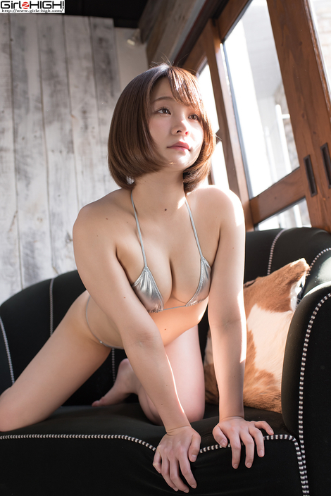 WEB Gravure : ( [UNO x Girlz HIGH!] -   コイビトツナギ Gallery No.19 - Vol.02 : シルバービキニ   MANA/真奈 )