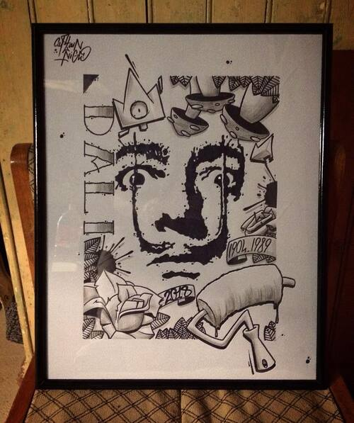 Dali Ink 2018. 40x50cm