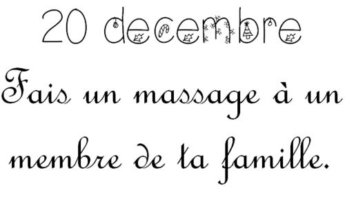 Vendredi 20 décembre: Calendrier de l'Avent