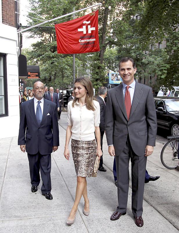 Felipe et Letizia à l'institut Cervantes