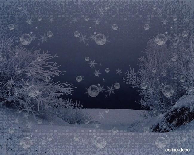 design hiver et givre