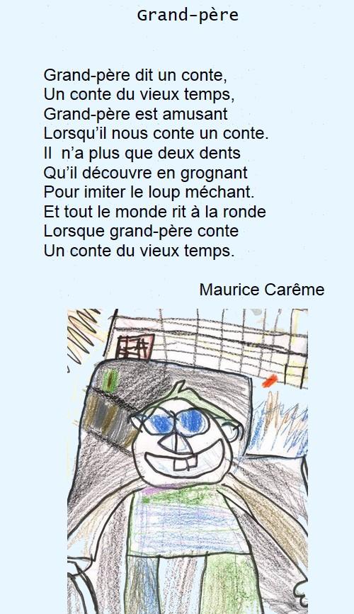 Poésie Grand Père De Maurice Carême Calisab