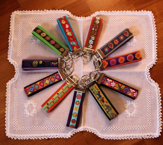 Porte-clés colorés