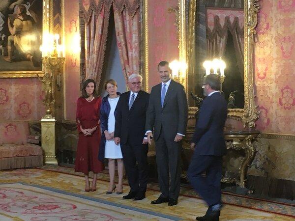 Felipe et Letizia reçoivent le couple présidentiel d'Allemagne
