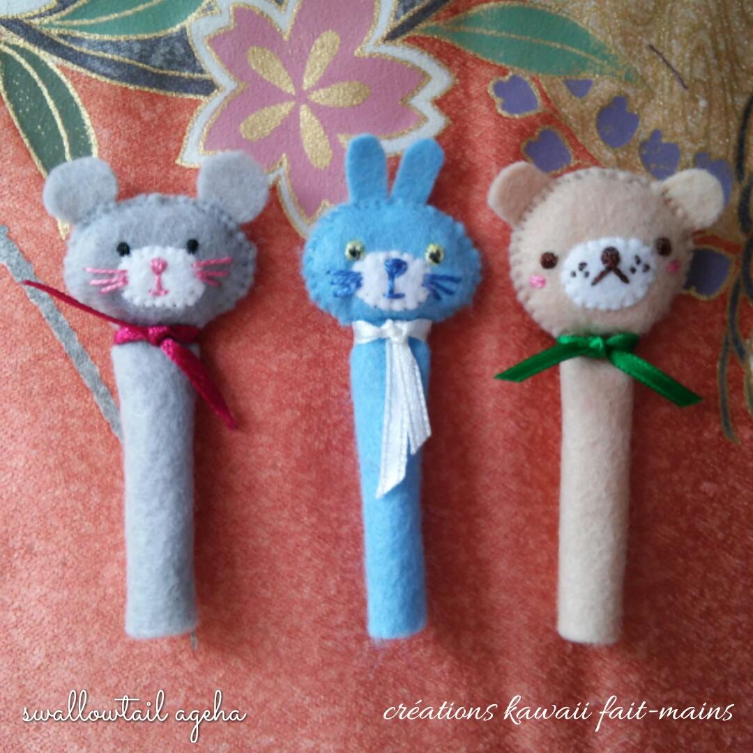 Embouts de crayons kawaii
