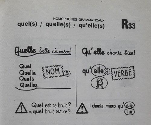 B / Le mot QUEL et ses homophones