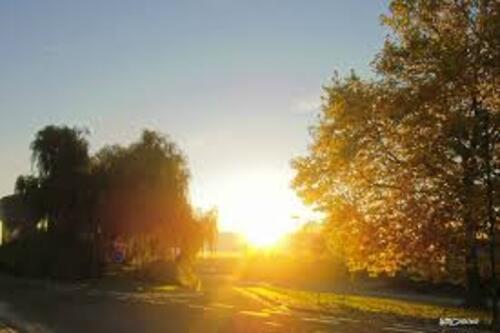 coucher de soleil ...