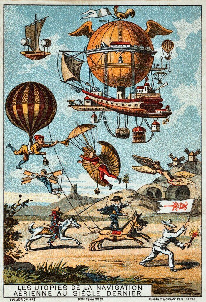 L'histoire Des Montgolfières...  En 20 Cartes D'époque...