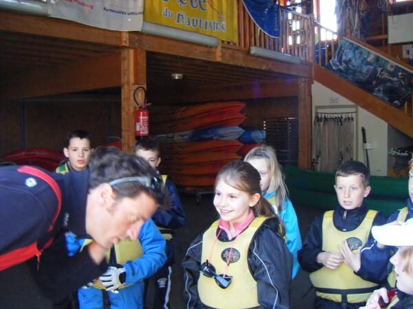 Prise en main du matériel de kayak et de voile