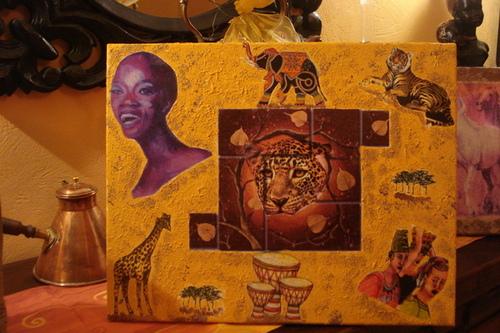 bonne soirée  à vous ,mes créations, africaine