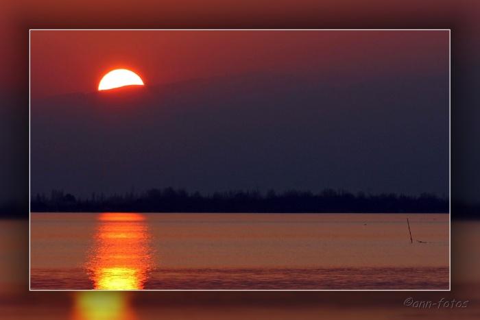 Coucher de soleil depuis le Barcares
