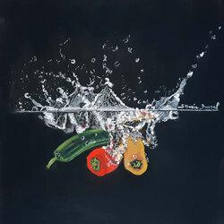 Trio splash  20 x 20 Sylvie Marin-Durand