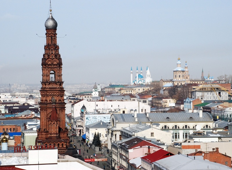 ... on Bauman Street, the main pedestrian street in the heart of Kazan