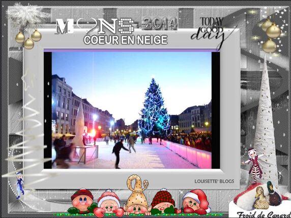 """♥♥ Mons """"Cœur en Neige"""" 2014 ♥♥  BON NOEL ♥♥ BON AN"""