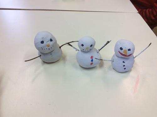 Les bonhommes de neige des CE1