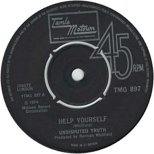 1974 : Single SP Tamla Motown Records TMG 897 [ UK ]