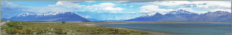Arrêt pour admirer une nouvelle fois le Lago Argentino avec les montagnes qui le bordent - Patagonie - Argentine