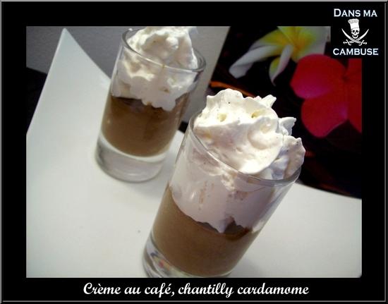crème café chantilly cardamome