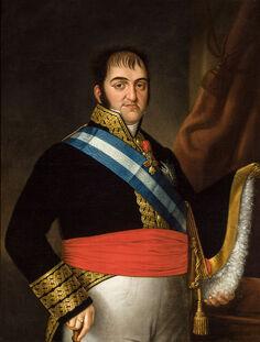 Portrait de Ferdinand VII d'Espagne.