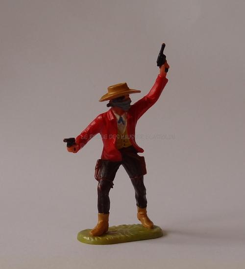 Réf: 6988 Bandit debout avec 2 pistolets