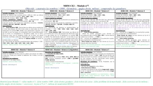 MHM CE2 - Détails module 7