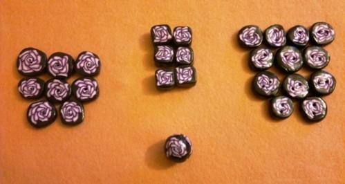 Perles pâte fimo fleurs