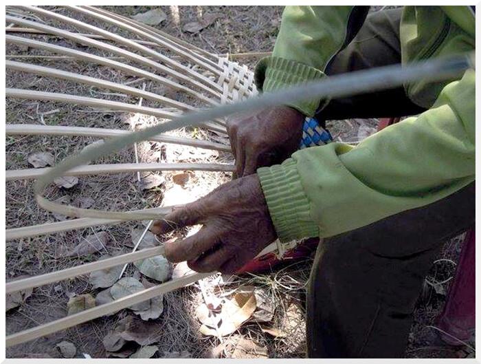 Création artisanal d'un hamac.