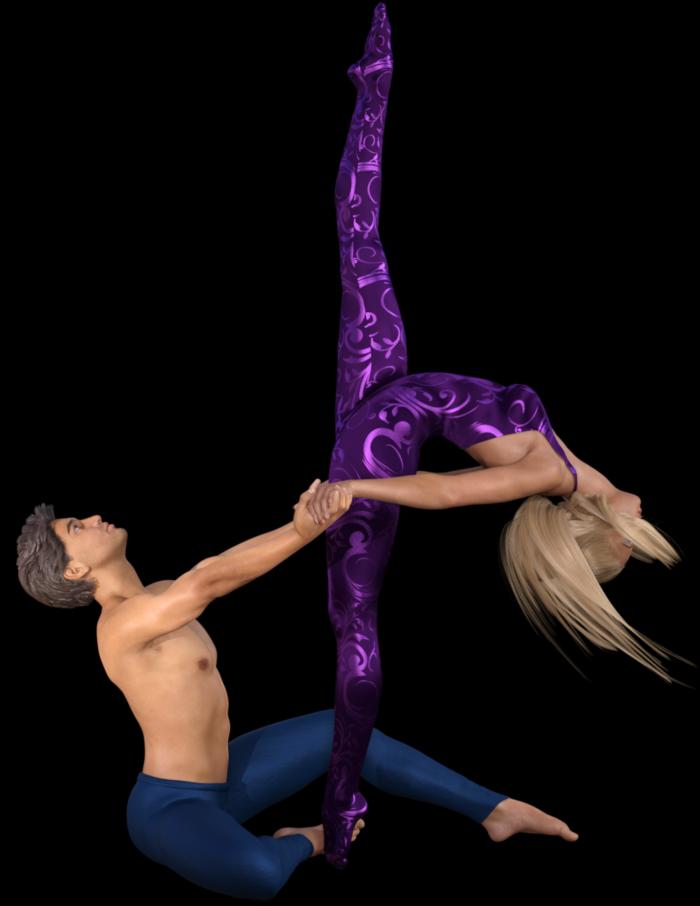 Couple danseurs (tube-poser-render)