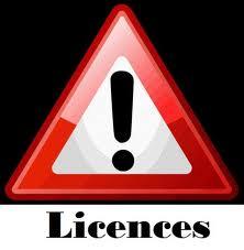 Paiement des licences