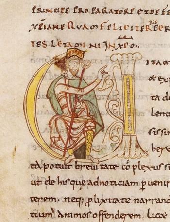 Charlemagne (Eginhard ; abbaye Saint-Martial de Limoges)