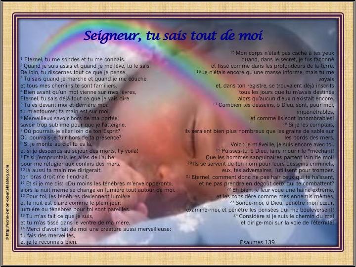 Seigneur, tu sais tout de moi - Psaumes 139