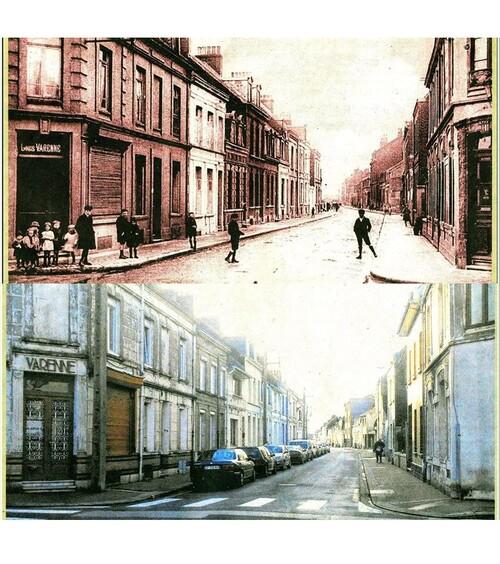 La rue Galilée à l'angle de la rue Masséna