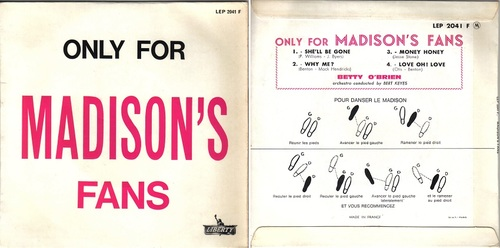 BETTY O' BRIEN - Only For Madison's Fans
